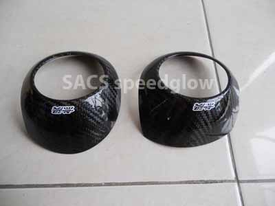 REAL CARBON COVER FRAME AC DASHBOARD MUGEN ALL NEW JAZZ GE